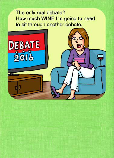 Debate 2016 Funny Hillary Clinton   Everything you need to get through the 2016 Presidential Debate between Donald Trump and Hillary Clinton | debate 2016 Hillary Clinton Donald Trump republican democrat Barack Obama White House Oval Office wine sit tv television